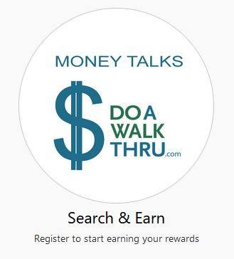 Search & Earn - Register to start earning your rewards