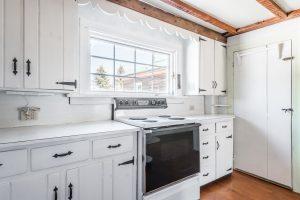 Bright, cheery kitchen