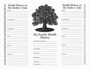 Family Medical History Chart