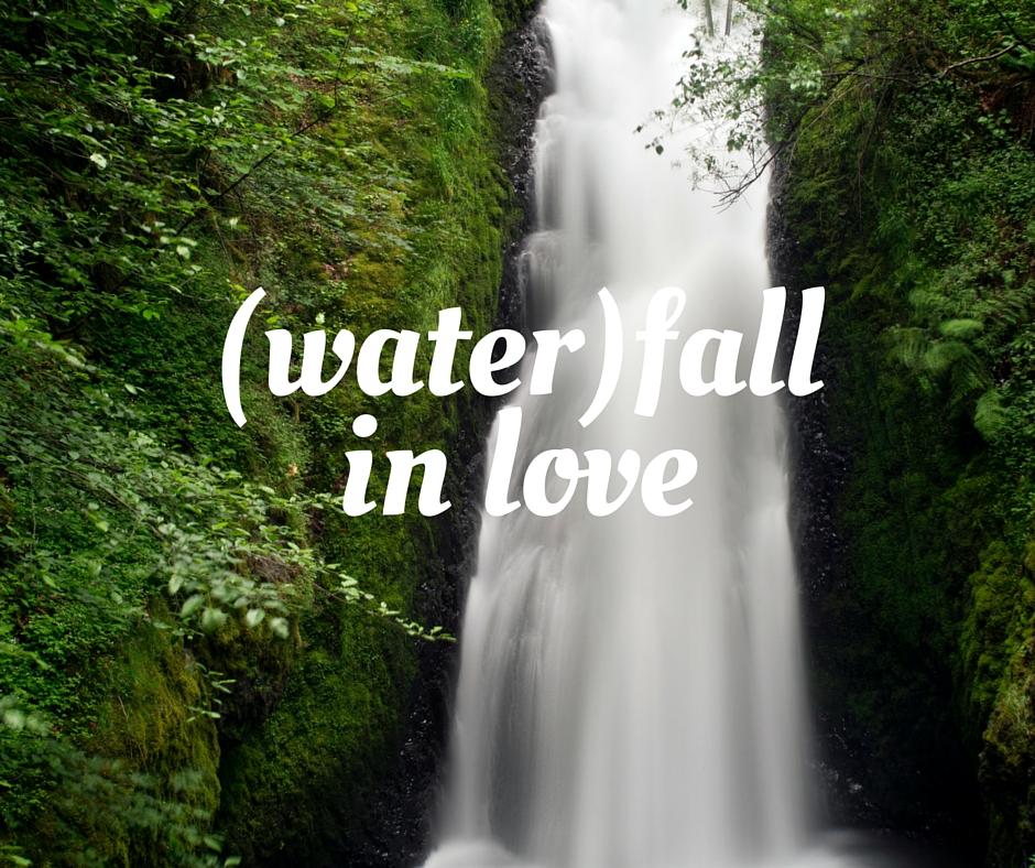 waterfall in love