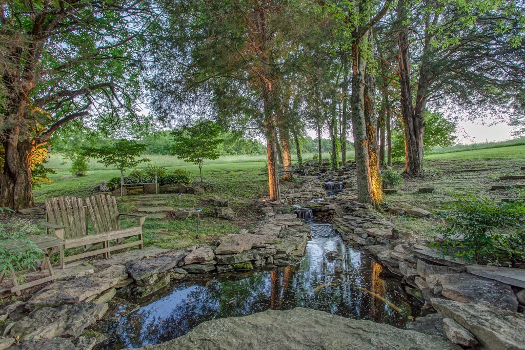 Frog Hollow Farm waterfall