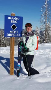 Baa-da-bing ski run at Angel Fire Resort with Kate Theisen Real Estate Condo Specialist