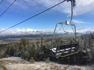 Chile Express Chairlift at Angel Fire Resort with Kate Theisen Real Estate Condo Specialist