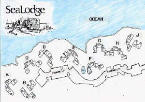 SeaLodge Building Map Oceanfront Condo Kauai