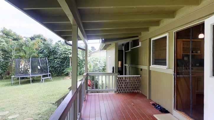 4445 Hookui Kilauea Home For Sale on Kauai oversized corner lot large garage 1641653