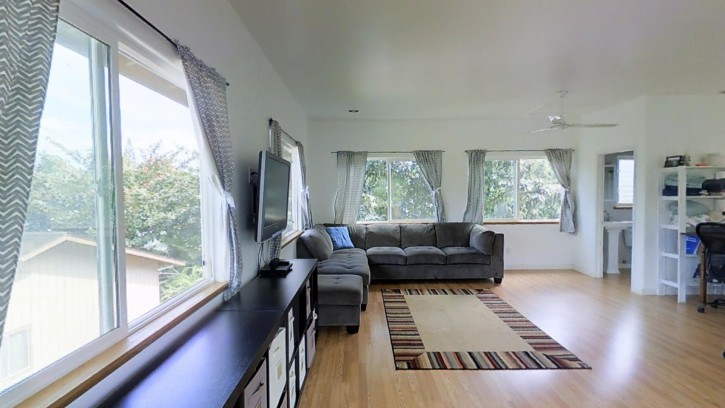 4445 Hookui Kilauea Home For Sale on Kauai oversized corner lot large garage penthouse 12