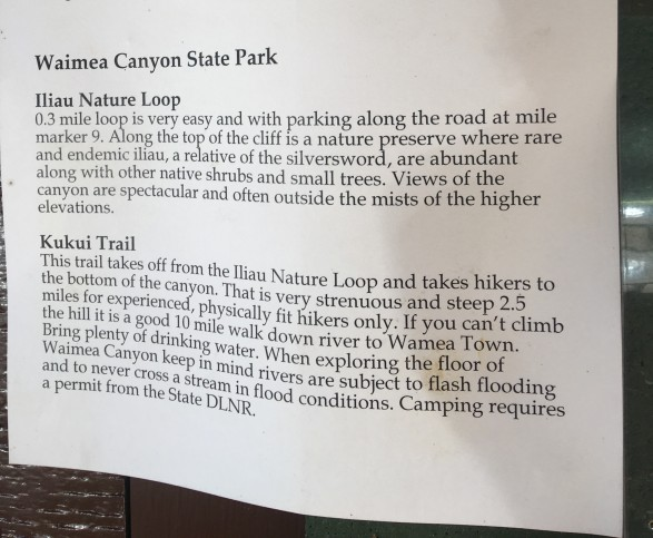 Kauai Hiking Information Kokee State Park