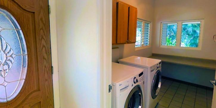 Kapaka Princeville Home For Sale Kauai North Shore Lanai Laundry