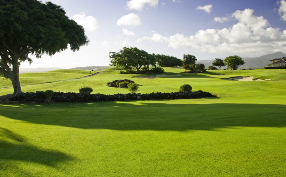 Poipu golf course Kauai golfing garden island