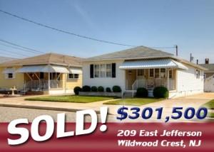 Sold! 209 East Jefferson, Wildwood Crest