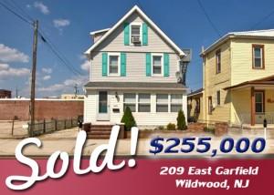 SOLD: 209 East Garfield, Wildwood, NJ