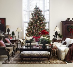 When mixing in your Christmas decor, be sure to add those pieces with height elements; this will keep the room balanced and free from ascetic clutter.