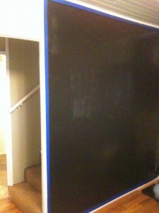 A big chalkboard is the perfect way to create art for the entire family
