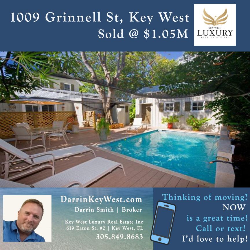 1009 Grinnell St, Key West, Sold | Darrin Smith | DarrinKeyWest.com | 305.849.8683