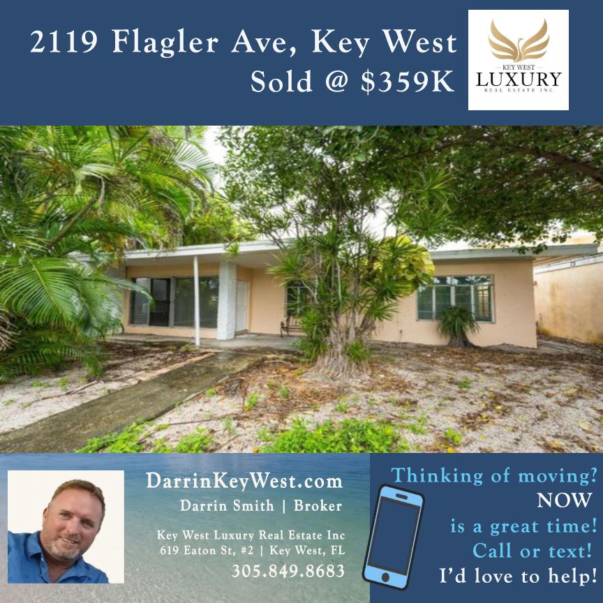 2119 Flagler Ave, Key West, Sold | Darrin Smith | DarrinKeyWest.com | 305.849.8683
