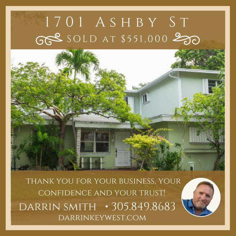 1701 Asby St, Sold, Darrin Smith, 305.849.8686, DarrinKeyWest.com