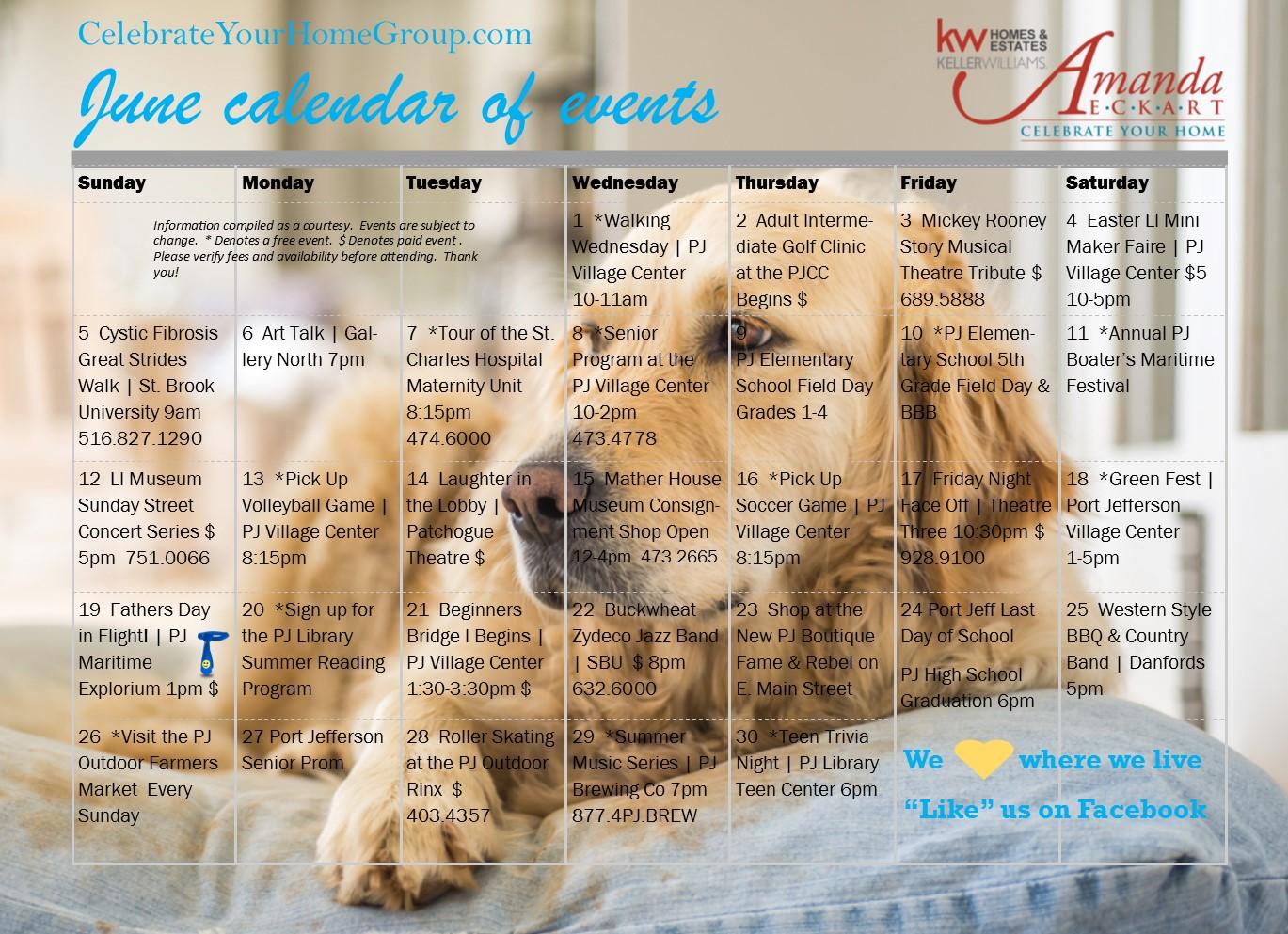 June Calendar Events : Amanda eckart s june calendar of events