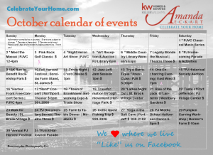 October2016 Calendar PNG