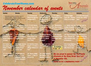 November 2016 Calendar of Events PNG