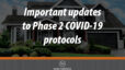 Important updates to Phase 2 COVID-19 protocols