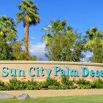 Sun CIty Palm Desert Entrance Sign