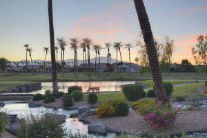 View of a sunset at Sun City Palm Desert