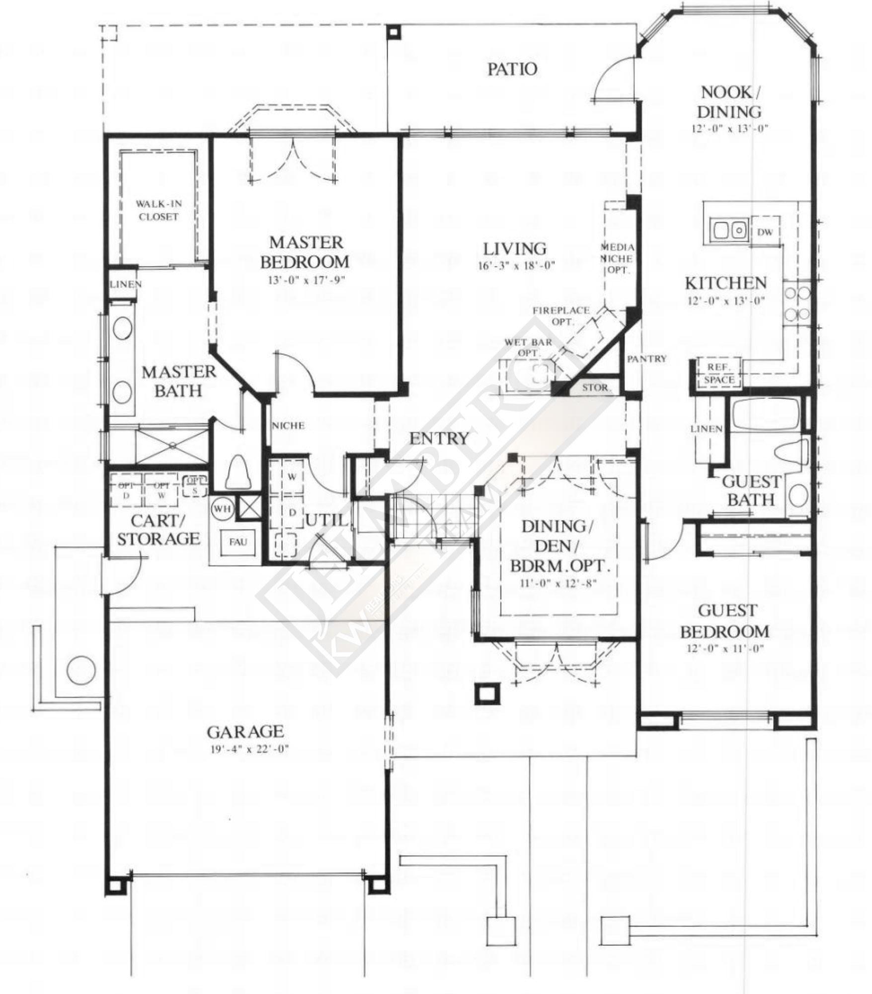 Lenox model floor plan coachella valley area real estate for The lenox floor plan