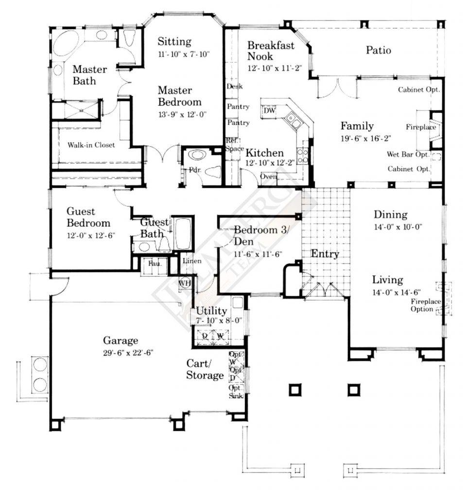 Marquis Model Floor Plan in SCPD