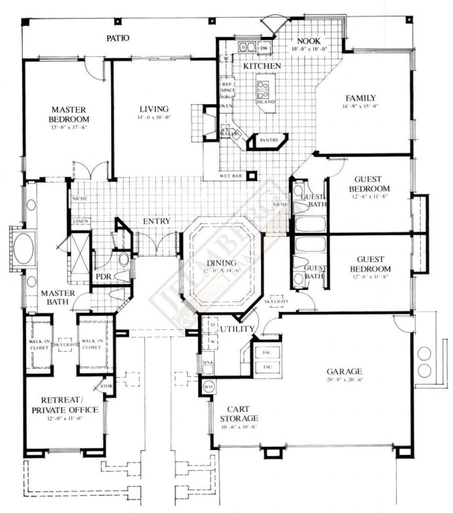 Regent Floor Plan in Sun City Palm Desert