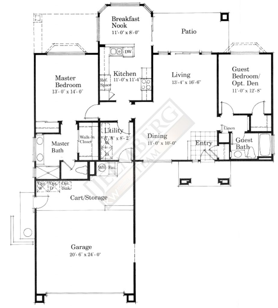 Waterford Model Floor Plan in Sun City Palm Desert