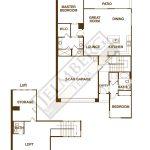 Aria + Loft Model Floor Plan Trilogy Polo CLub