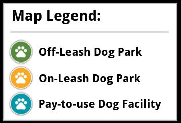 Dog Park Map Legend