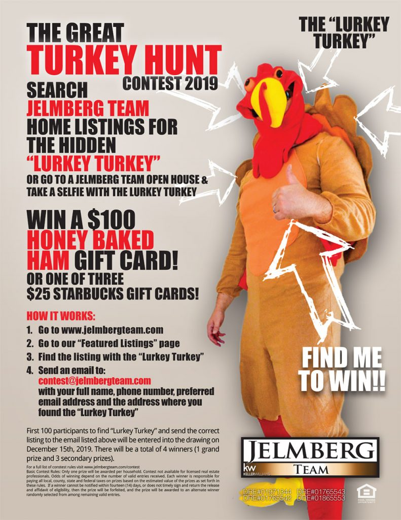 Turkey hunt contest flyer.