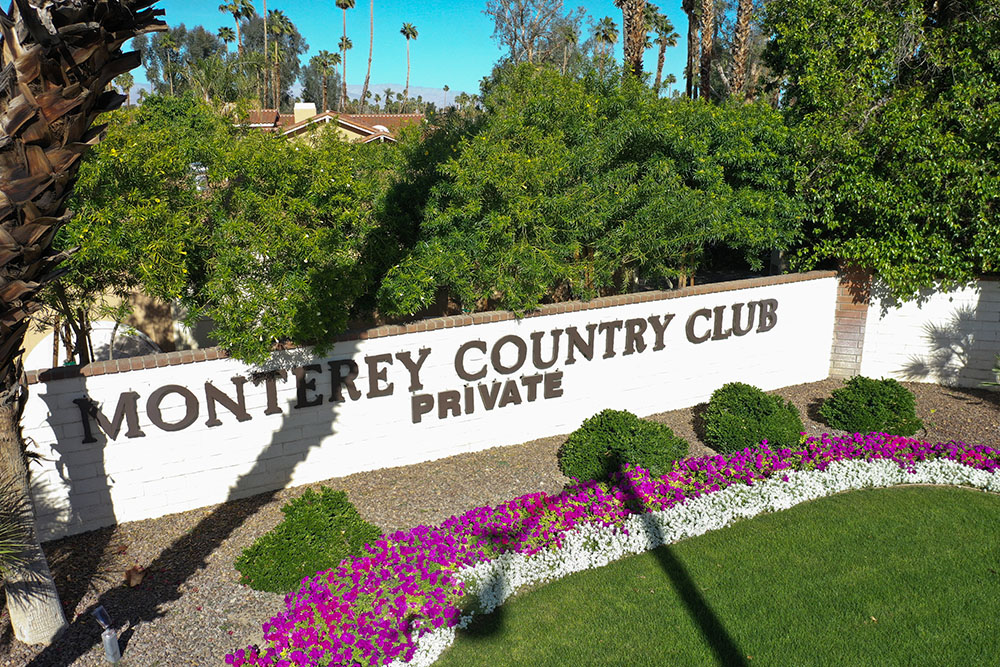Monterey Country Club Sign
