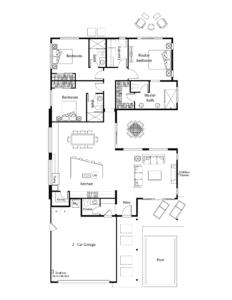 Aura Floor Plan - Residence 1