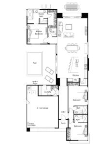 Aura Floor Plan - Residence 2