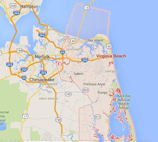 virginia beach map