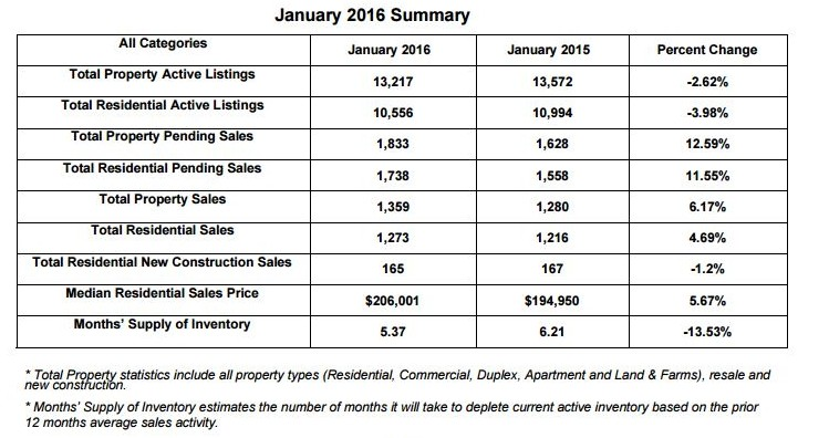 January 2016 Summary - Information Provided by REIN