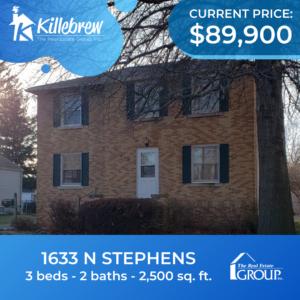 1633 N Stephens - 3bed, 2bath - $89,900