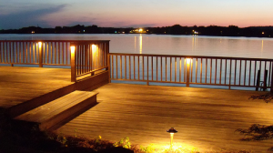 Clear all furniture from patio to protect from harsh winters.