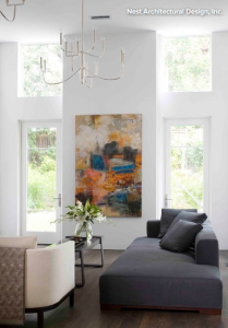 Hang artwork at the right height