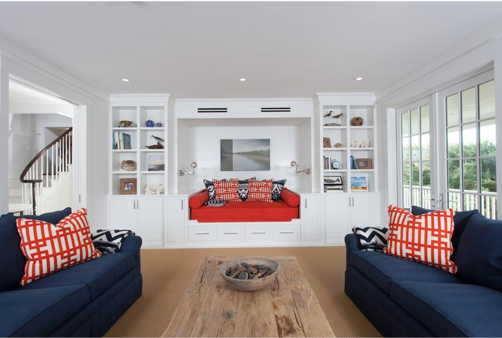 Jetties House - beach-style - Living Room - Boston - Chip Webster Architecture
