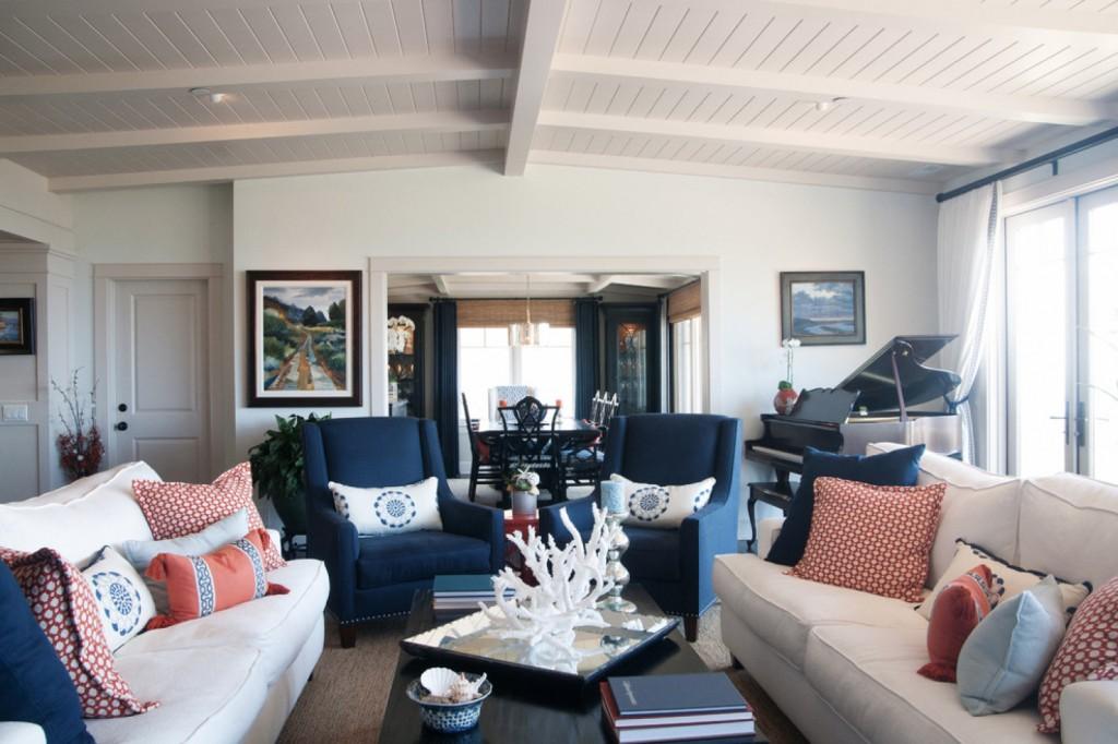 Laguna Cottage - traditional - Living Room - Los Angeles - Darci Goodman Design