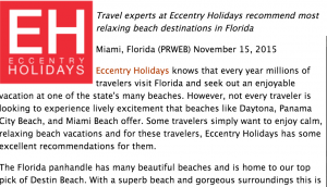Eccentry Holidays
