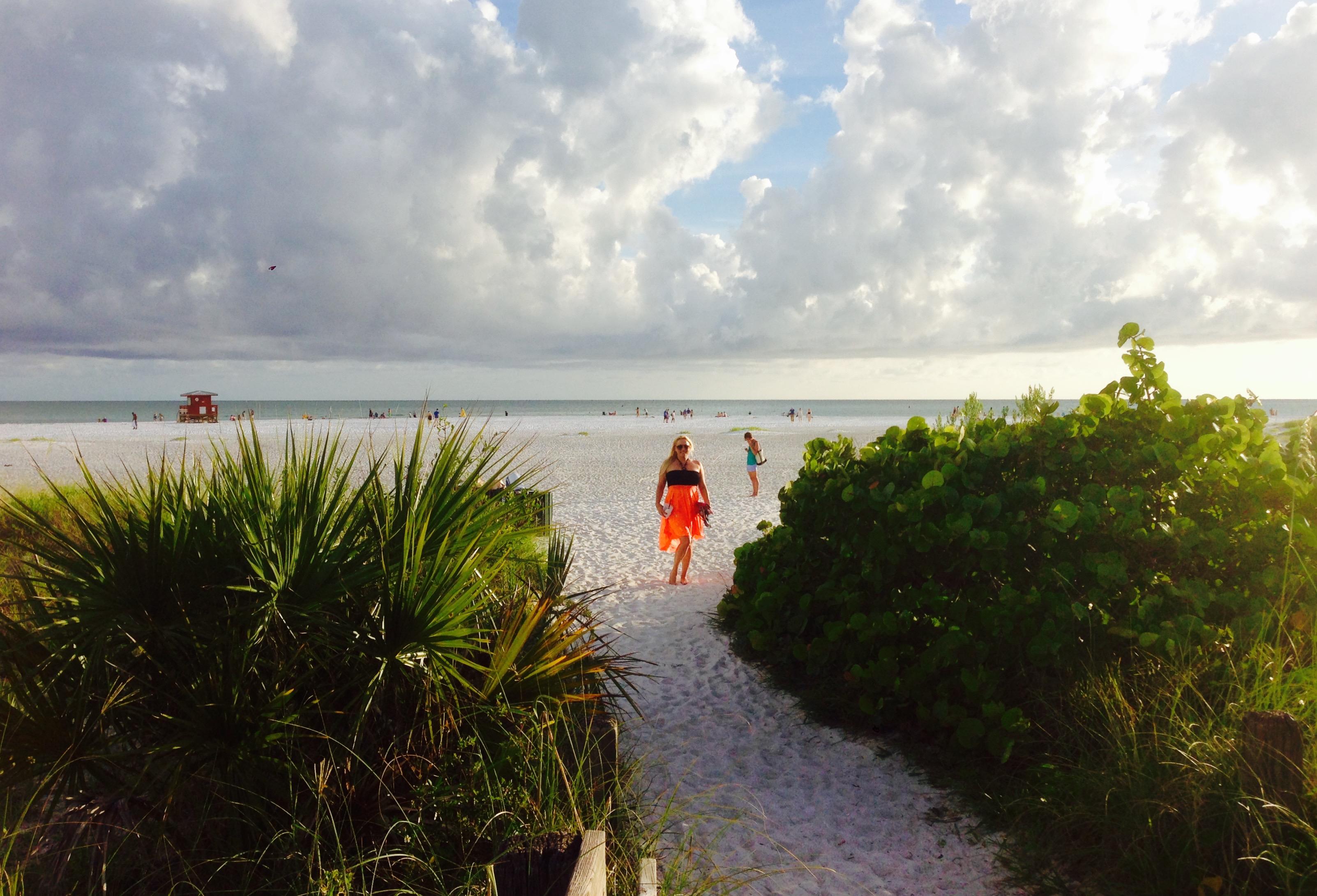 DeAnna Greenhaw at the Siesta Key Beach Entrance