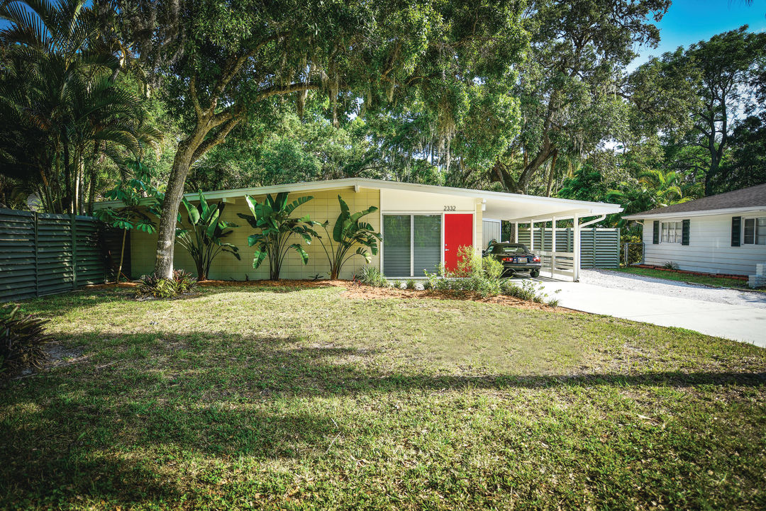 A classic midcentury home on Hawthorne Street. Sarasota, FL