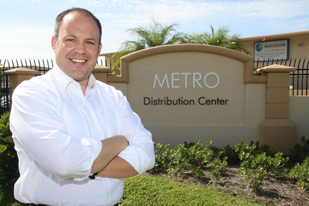 Premier Commercial's Matt Stepan stands in front of the Metro Distribution Center in Fort Myers. Stepan and his brokerage partner identified the property as a candidate for a 1031 tax-deferred exchange for a client from Ohio. The center sold recently for more than $12 million. JIM JETT
