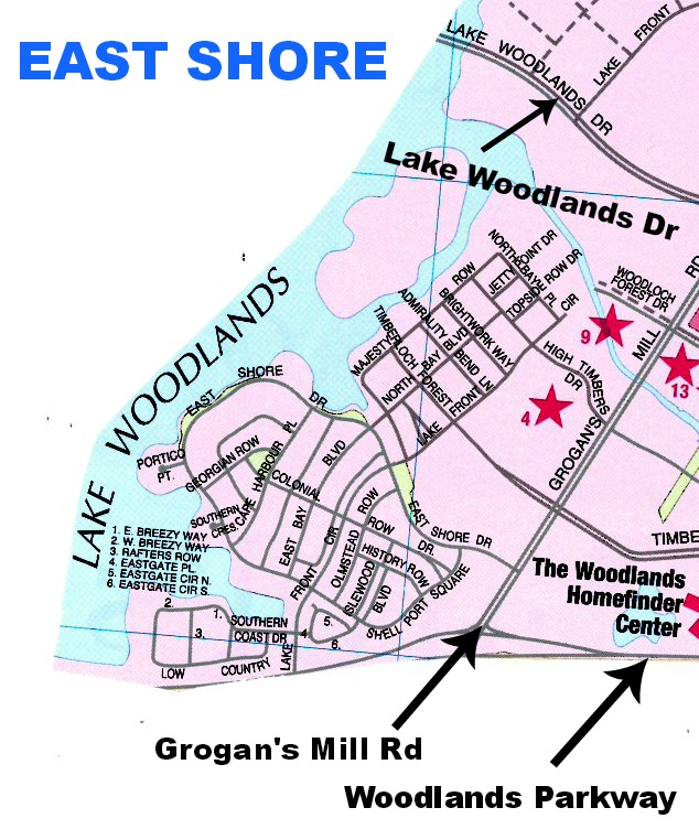 Map of East Shore