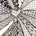 Exercise Your Mind Zentangle