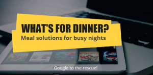 whats for dinner graphic